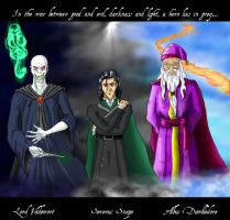 Voldemort Snape and Dumbledore by ajb3art