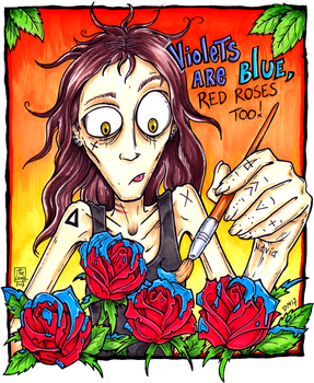 Paint the roses blue by Loony-Madness