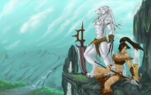 Rengar and Nidalee by LionKinEn