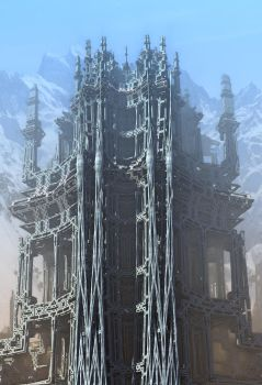 Mountainside Temple by HalTenny
