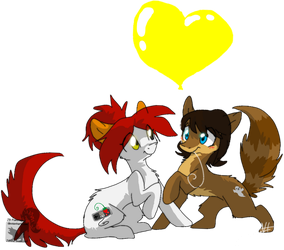 Val and Jack by JB-Pawstep