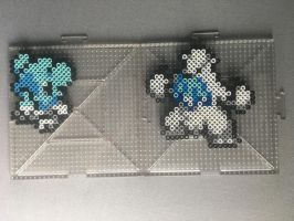 #613-#614 Cubchoo and Beartic Perlers by TehMorrison