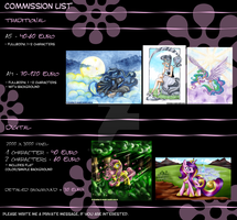 My little Pony: commission price list by Mana-Kyusai