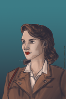Peggy Carter by wolfsteeth