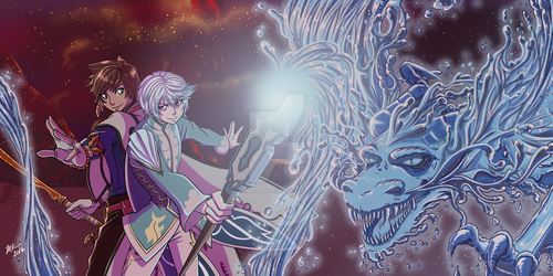 Mikleo and Sorey: Water Dragon by PrinceOfDogs