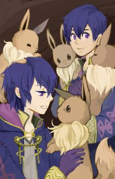 Morgans and Eevees by neneno