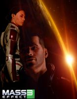 Mass Effect 3 - Shepley by IndigoWolfe