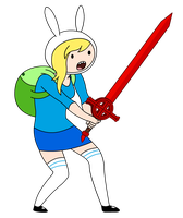 Fionna the Human - Adventure Time by Qhyperdunk24