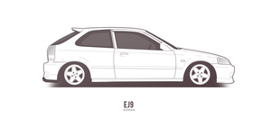 COMMISSION: Honda Civic EJ9 by AeroDesign94