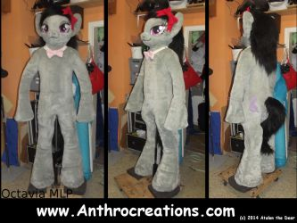 Cello Octav  Pony Fursuit MLP by AtalontheDeer
