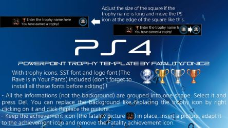 PS4 Trophy PowerPoint Template by FatalitySonic2