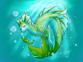 Art Trade~ Beauty Of The Deep by Pokelobo