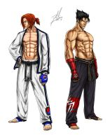 Tekken Revised: Hwoarang and Jin by DHK88