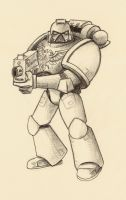 Space Marine pencils by VA-Wolf