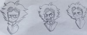 Guzma expressions practice by CatEyes-To-CatTails