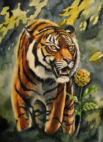 Tiger (I will protect that flower) by ZiskaJa