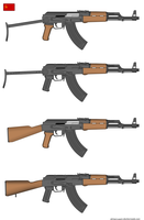 AK-47 stamped and milled versions by Altegore