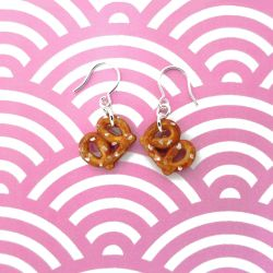 Salted Pretzel Earrings by KawaiiCulture