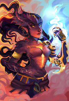 dragon symmetra + speedpaint [oct 17] by rosheruuu