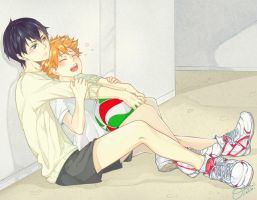 HQ - KageHina by OtakumiArt
