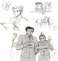 Ace Attorney sketch by Lizeth