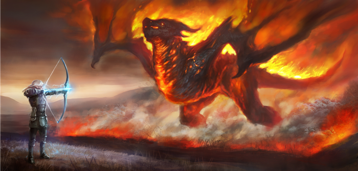Flaming doom finished by ElkaArt