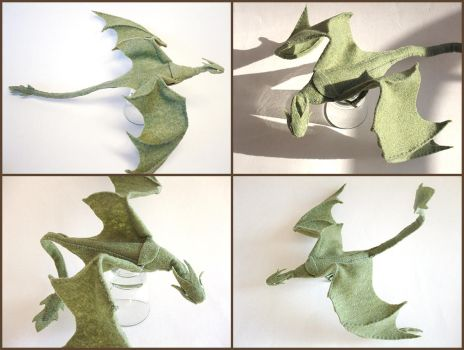Plush Poseable Dragon by ldhenson