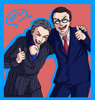 request-colbert and stewart by Gandalfia