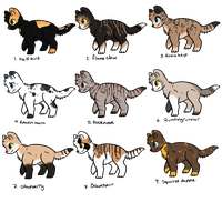 Free warrior cats adopts by Buff-Spud