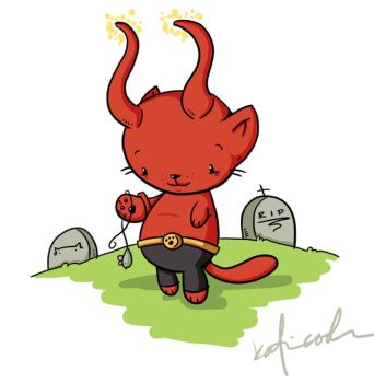 hell kitty by katiecandraw