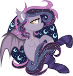 Mlp Art Trade Nightfall Moon by nocturna76