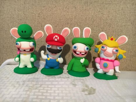 Mario and Rabbids by PomChiPrincess