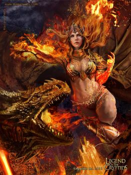 Lava Queen - advanced version by Blackfoxst