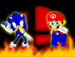 Mario and Sonic Background by NinjaPower128
