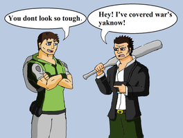 Chris Redfield and Frank West by Brian12