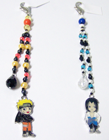 Naruto Beaded Fobs by jordannamorgan