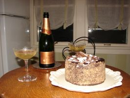 Champaign and Birthday Cake by FantasyStock