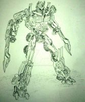 Transformer: Optimus Prime by InkArtWriter