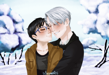 Viktor and Yuuri by cochepic