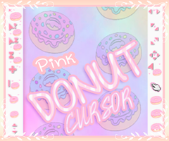 Pink Donut Cursors by LiaxmmyArt