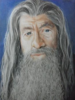Gandalf drawing by KirstyPartridgeART