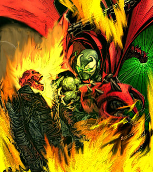 Spawn Vs Ghost Rider by ComicMultiverse