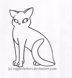REQUEST - Cat Lineart by CopperLetters