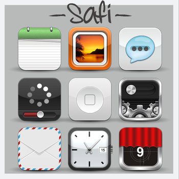 Safi HD iPhone Theme by MrAronsson