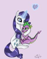 Rarity with her Spikey-Wikey by Brush-Sweep