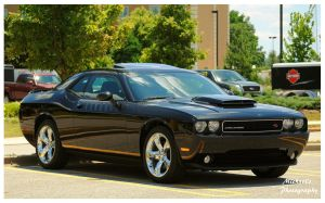 A Slick Black Dodge Challenger R/T by TheMan268