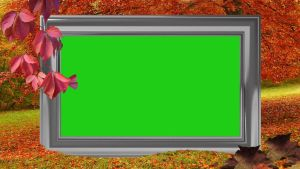 Autumn frame green screen by silviubacky