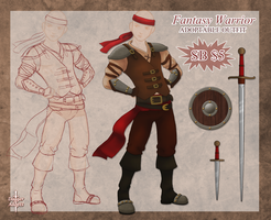 Fantasy Warrior Outfit Adopt Auction - OPEN by Daggerstale-Adopts