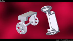 Cart T  Axle by Fesothe