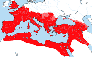 Map of the Roman Empire 117 A.D. (Clients also) by Sharklord1